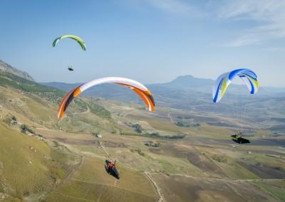 skywalk CAYENNE5 grün orange weiß paraglider