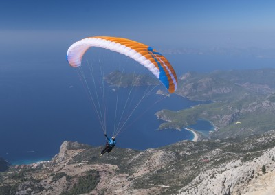 skywalk MASALA2 orange cyan paraglider lightweight