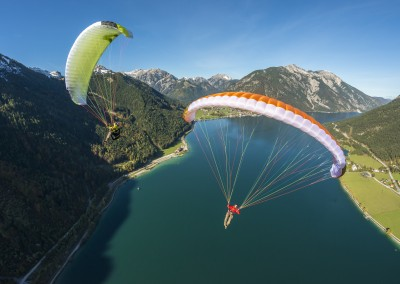 skywalk MASALA2 green orange cyan lightweight paraglider