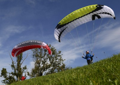 skywalk TONIC red green paraglider miniwing
